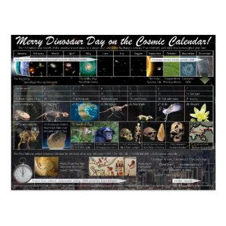 Fröhlicher Dinosaurier-Tag! (Weihnachts) Postkarte