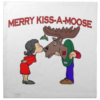 Fröhlicher Kuss ein Elch Serviette