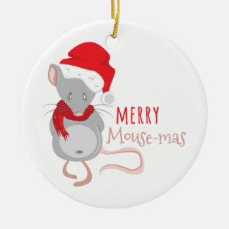 Fröhlicher Maus-mas Keramik Ornament