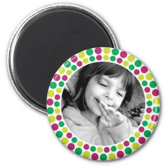 Fröhlicher und heller 2010 Feiertags-Foto-Magnet Runder Magnet 5,1 Cm