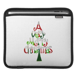 Fröhlicher Weihnachtsbaum Sleeve Für iPads