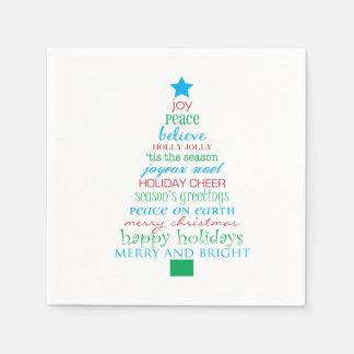 Fröhlicher Weihnachtsbaum Serviette
