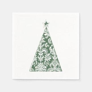 Fröhlicher Weihnachtsbaum Papierserviette