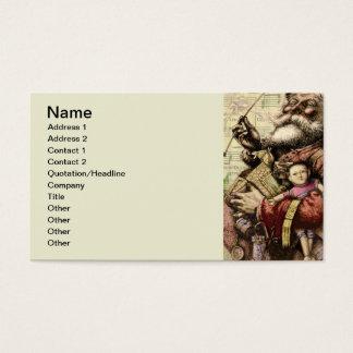 Fröhlicher Weihnachtsmann und der Weihnachtsbaum Visitenkarte