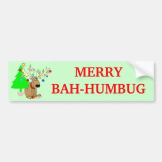 Fröhliches Bah Humbug-Ren-lustiges Weihnachten Autoaufkleber