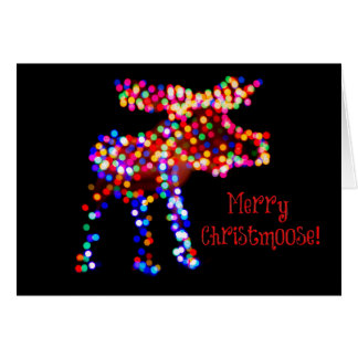Fröhliches Christmoose! Feiertags-Karte Karte