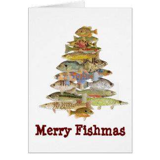 Fröhliches Fishmas Karte