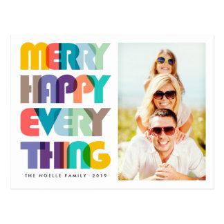 Fröhliches glückliches alles bunte postkarte