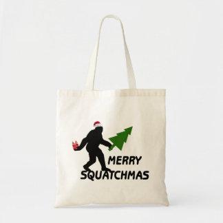 Fröhliches Squatchmas Tragetasche