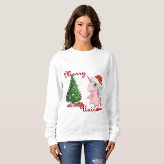 Fröhliches Unicmas (frohe Weihnachten über Sweatshirt