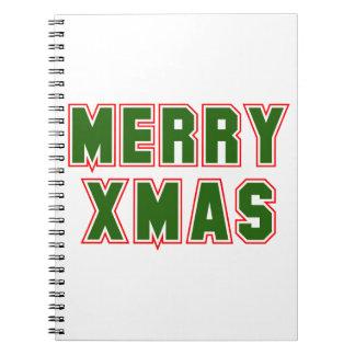 Fröhliches Weihnachten (2) Spiral Notizblock
