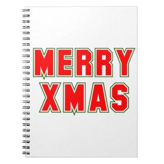 Fröhliches Weihnachten Spiral Notizblock