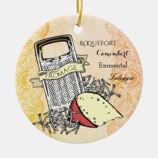 Fromage Käsereibe feinschmeckerische Rundes Keramik Ornament
