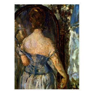 Front des Spiegels - Edouard Manet Postkarte