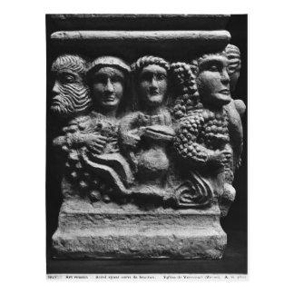 Front eines Altars benutzt als darstellender Postkarte