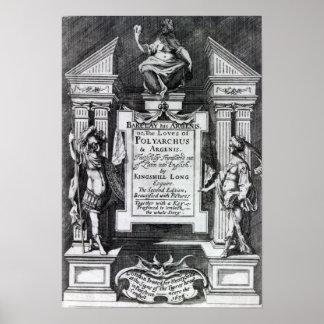 """Frontispiz für """"Argenis"""" durch John Barclay Poster"""