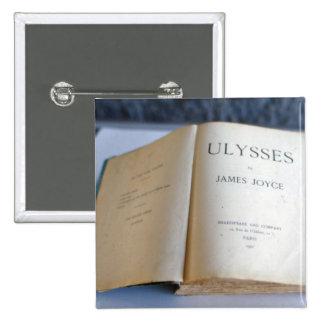 """Frontispiz von """"Ulysses"""" durch James Joyce Quadratischer Button 5,1 Cm"""