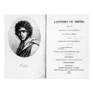 Frontispiz 'zu den Buchstaben von Ortis Postkarte