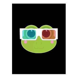 Frosch 3D (2) Postkarte