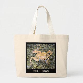 Frosch (Amerikaner-Stier-Frosch) Jumbo Stoffbeutel