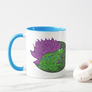 Frosch auf einer Lilien-Auflage-Tasse Tasse