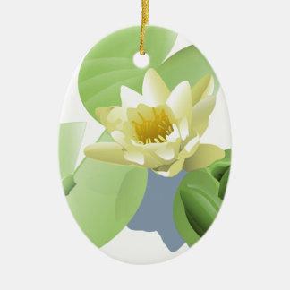 Frosch auf einer Lilly Auflage Keramik Ornament