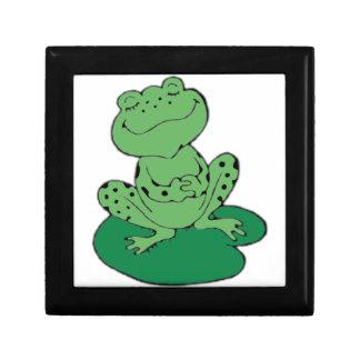 Frosch auf Lilypad Geschenkbox