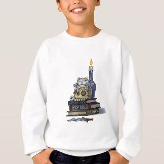 Frosch auf Schädel mit Kerze Sweatshirt