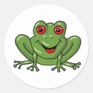 Frosch Runder Aufkleber