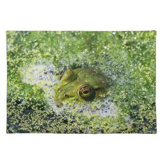 Frosch-Augen in einem Teich Tischset