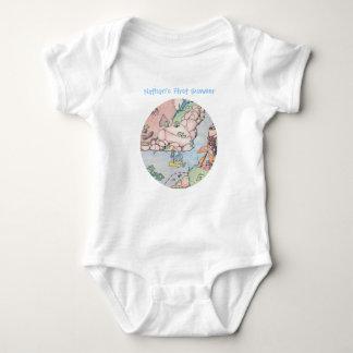 Frosch-Baby-Bodysuit mit Segelboot, Baby Strampler