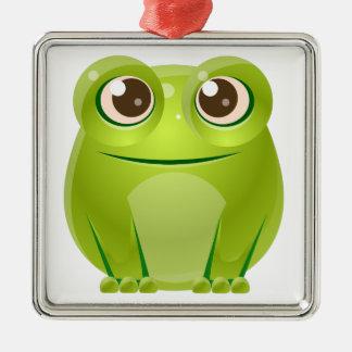 Frosch-Baby-Tier in der Girly süßen Art Silbernes Ornament
