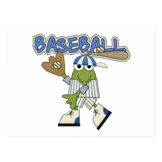 Frosch-Baseball - Fänger-T-Shirts und Geschenke Postkarte