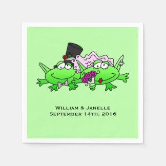 Frosch-Braut-und Papierservietten