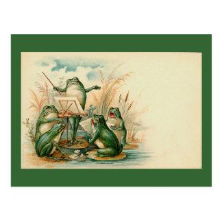 """Frosch-Chor "" Postkarte"