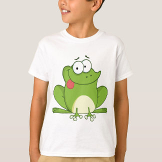 Frosch, der heraus seine Zunge hängt T-Shirt