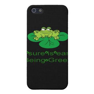 Frosch-einfaches Sein grüne Iphone 4 iPhone 5 Schutzhülle