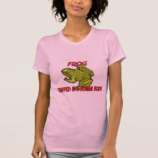 Frosch eingeschlossen in einem menschlichen Körper T-Shirt