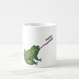 Frosch fängt die Haikuwanze! Kaffeetasse