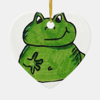 Frosch Frog Keramik Ornament