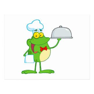 Frosch-Frosch-amphibisch lustiges Postkarte