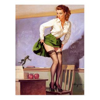 Frosch für Lehrer-Button oben Postkarte