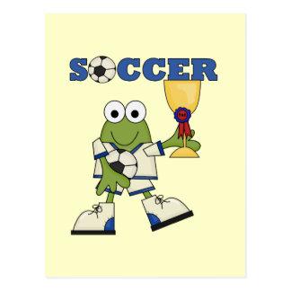 Frosch-Fußball-T-Shirts und Geschenke Postkarte