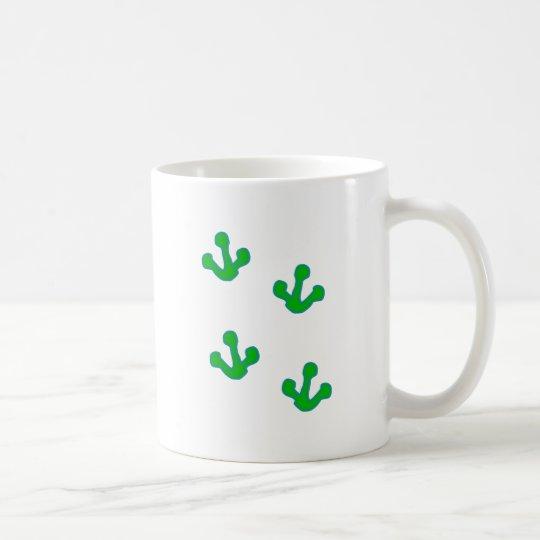 Frosch Fußspuren frog tracks Kaffeetasse
