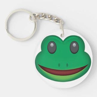 Frosch-Gesicht Emoji Schlüsselanhänger