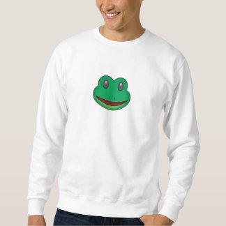 Frosch-Gesicht Emoji Sweatshirt
