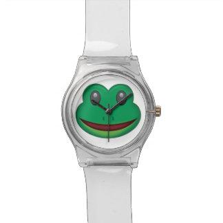 Frosch-Gesicht Emoji Uhr