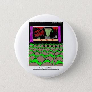 Frosch-Horror-Film-kardiert lustige Runder Button 5,7 Cm