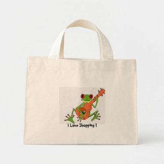 Frosch, i-Liebe-Einkauf! Mini Stoffbeutel