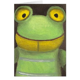 Frosch-Junge Karte